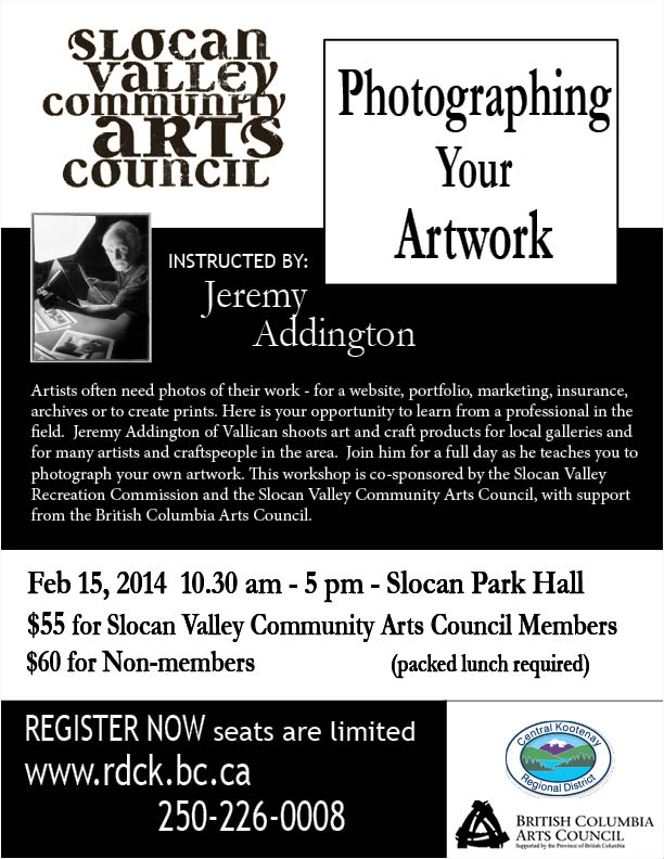 SVCAC Email -Photography Workshop